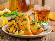 Пържена риба треска филе в бирена панировка (паста патафри)